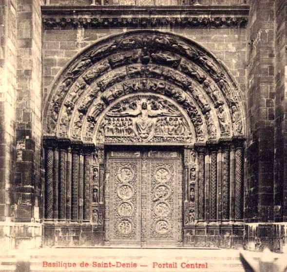 Basilique de Saint-Denis : portail central