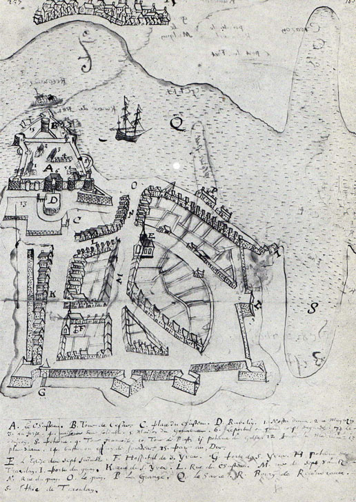 Ville de Brest et son château