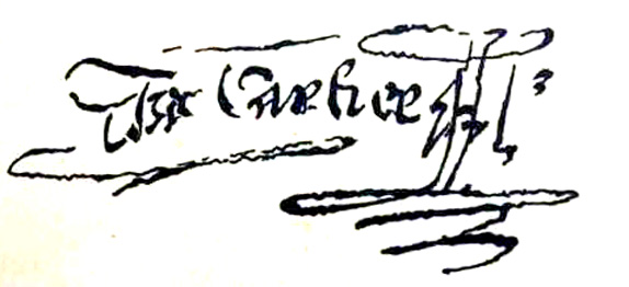 Signature de l'explorateur fran�ais Jacques Cartier