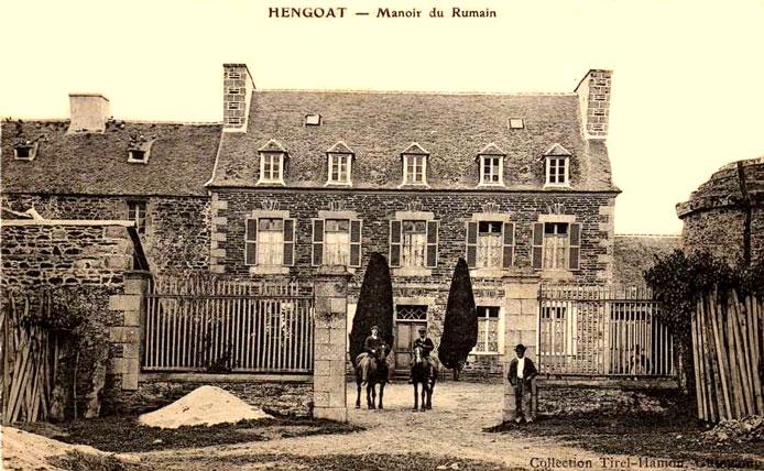 Hengoat (Bretagne) : manoir du Rumain